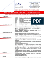 Killeshal Lintels Specification