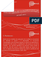 Satisfaccion Del Usuario en CCEE Junio 2011