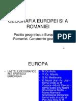 1 Geografia Europei Si a Romaniei
