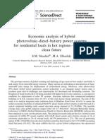Economic analysis of hybrid photovoltaic–diesel
