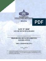 To-LEY_2028 Saneamiento Ley de Municipalidades.