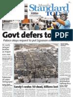 Manila Standard Today - Thursday (November 1, 2012) Issue