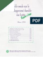 Table ronde sur le developpement durable des forêts