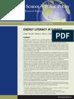 Energy Literacy Survey