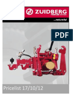 1. Zuidberg Pricelist 17102012 Upgrade