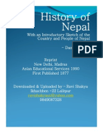 The History of Nepal-Daniel Wright