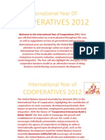 International Year of COOPERATIVES 2012