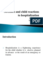 Stressors and Child Reactions to Hospitalization