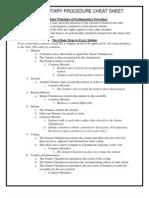Parliamentary Procedure Cheat Sheet