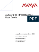 Avaya 1220 IP Deskphone Manual