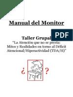 Manual del Monitor Taller Grupal Déficit Atencional