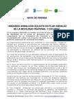NOTA DE PRENSA - ANDANDO ANDALUCÍA