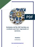 Soldados de Las IDF Heridos en Combate Que Han Regresado Al Servicio