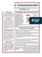 Communicator Senior Newsletter - November 2012