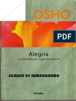 Osho - Alegria La Felicidad Que Surge Del Interior