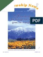 October 30, 2012 Fellowship News