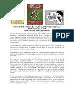Declaracion Final Del Encuentro Internacional de Guardianes de Semillas, 29 de Octubre Monte Carmelo, Venezuela[1]
