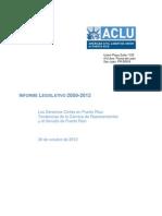 Informe Legislativo, Apuntes y Hallazgos (Oct. 31, 2012)