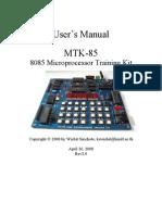 8085 Microprocessor Kit Description