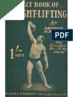 weightlifting by Arthur Saxon