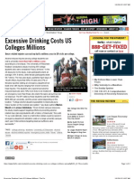 Excessive Drinking Costs US Colleges Millions