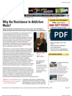 Why the Resistance to Addiction Meds