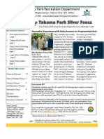 Silver Foxes Newsletter - November 2012 from the Takoma Park Recreation Department