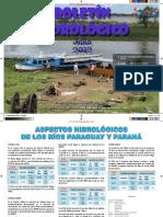 BOLETÍN HIDROLÓGICO - JULIO 2012 - PARAGUAY - PORTALGUARANI