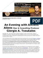 Ancient Alien TV Star Giorgio Tsoukalis hits VEGAS this SATURDAY!