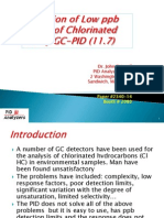Detection of Low Ppb Levels of Chlorinated HC by GC-PID (11.7)A