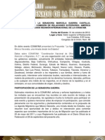 31-10-12 Discurso Senadora Marcela Guerra Castillo - Ley de Migración