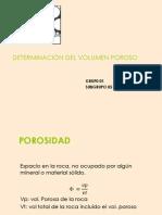 DETERMINACIÓN DEL VOLUMEN POROSO
