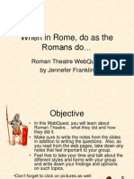 Roman Theatre Webquest - Use for Students