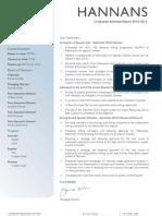 Hannans Quarterly Report 2013   Q1
