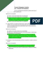 Act. 1 Revisión de Presaberes - Proyecto Pedagogico Unadista