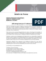 01-03-2011 JAS entregó obra por 5.7 millones de pesos