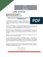 02-03-2011 Firman convenio para erradicar la explotación infantil en Guadalajara
