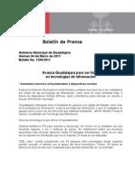 04-03-2011 Avanza Guadalajara para ser líder en Tecnologías de la Información