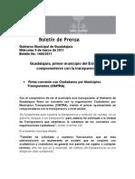 09-03-2011 Guadalajara, Primer Municipio Del Estado en Comprometerse Con La Transparencia