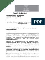 10-03-2011 Aprueban dictámenes para respetar los derechos de los discapacitados