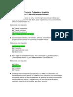 Act. 3 Reconocimiento Unidad 1 - Proyecto Pedagogico Unadista