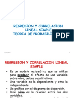 Regresion Lineal Simple y Probabilidades