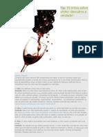 Top 10 Mitos Sobre Vinho