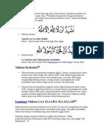 Syahadat Merupakan Asas Dan Dasar Bagi Rukun Islam Lainnya