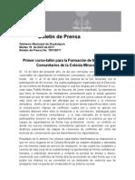 19-04-2011 Primer curso-taller para la Formación de Mediadores Comunitarios de la Colonia Miravalle