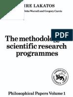 Lakatos. the Methodology of Scientific Research Programmes