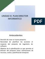 UNIDAD III Plan Director Informatico