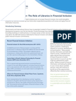 Financial Inclusion Issue Brief