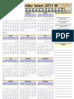 Kalender Islam 2011 Global