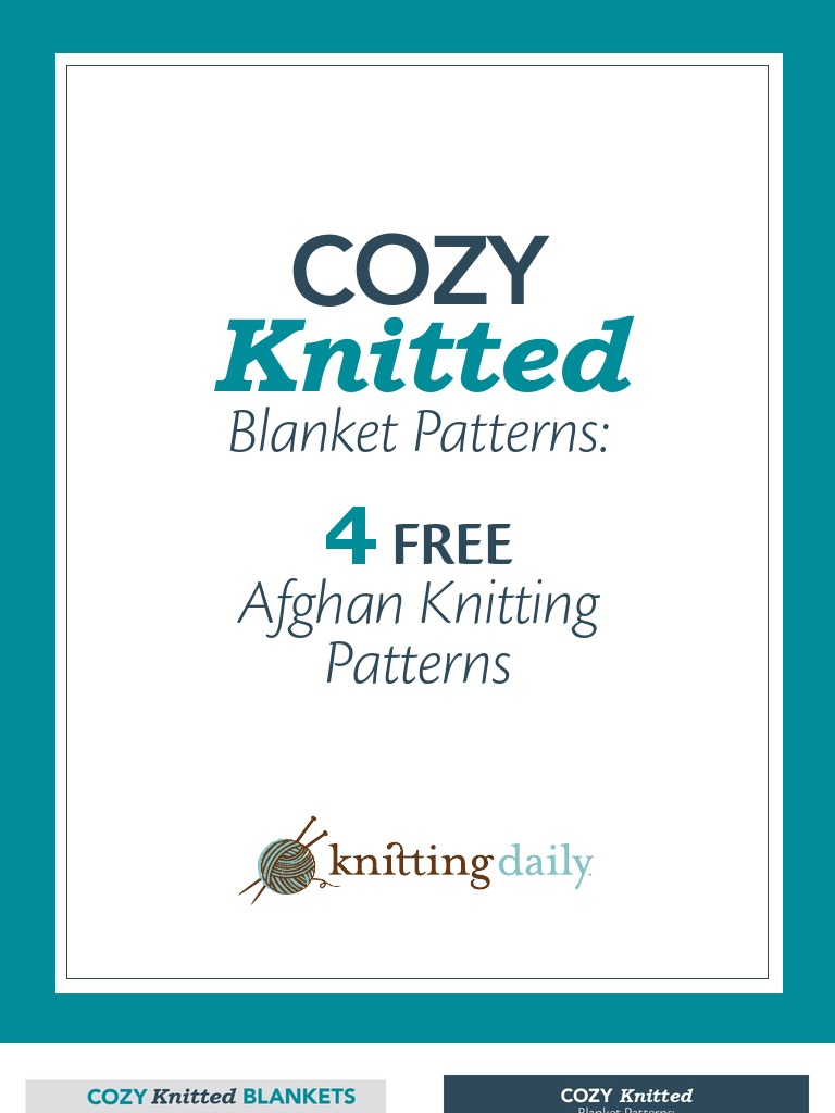 Old Fashioned Knit Daily Free Patterns Gift - Blanket Knitting ...